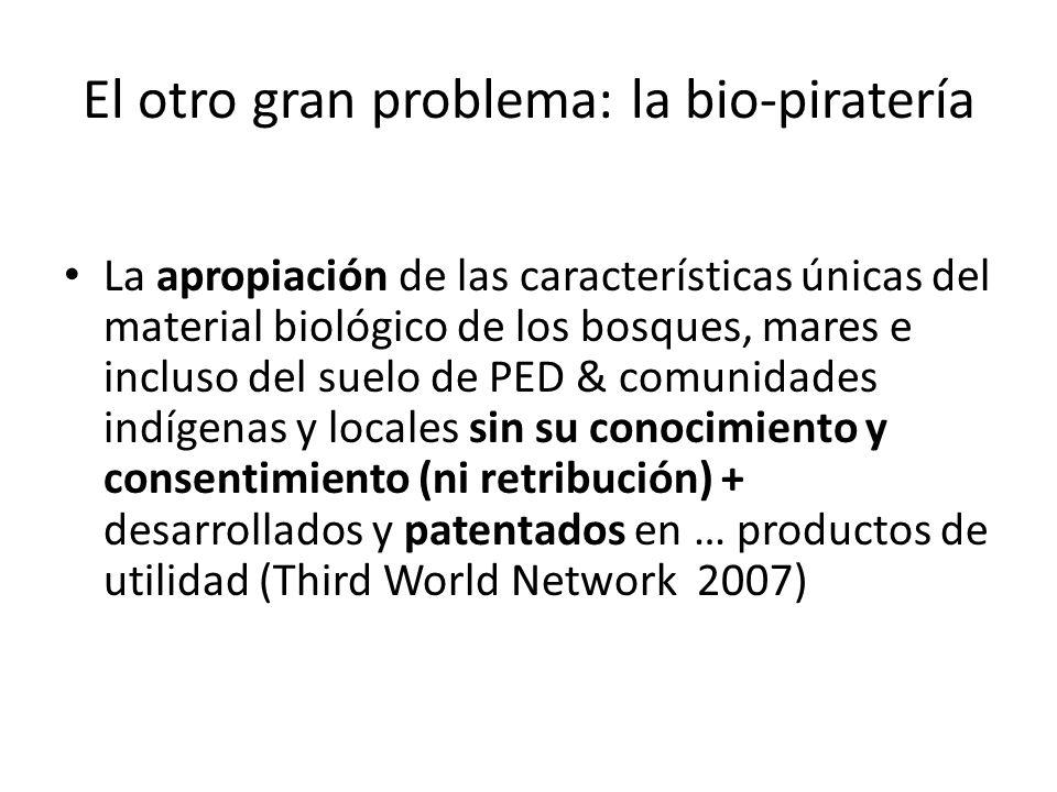 El otro gran problema: la bio-piratería
