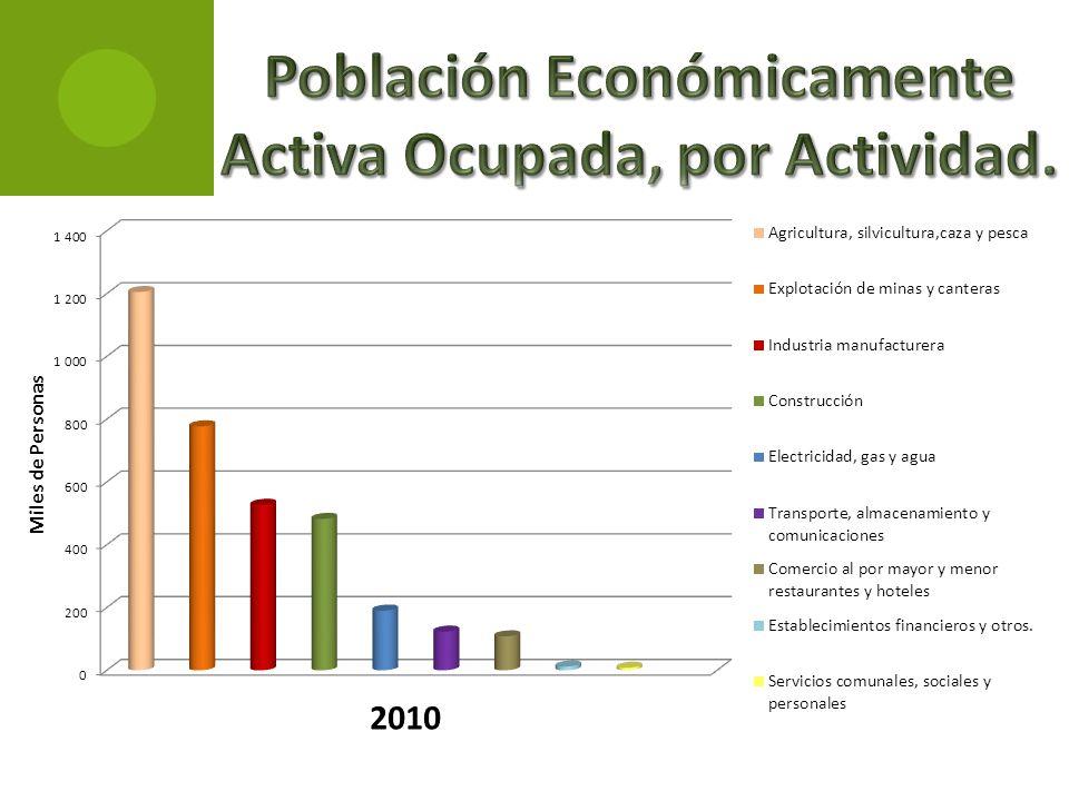 Población Económicamente Activa Ocupada, por Actividad.