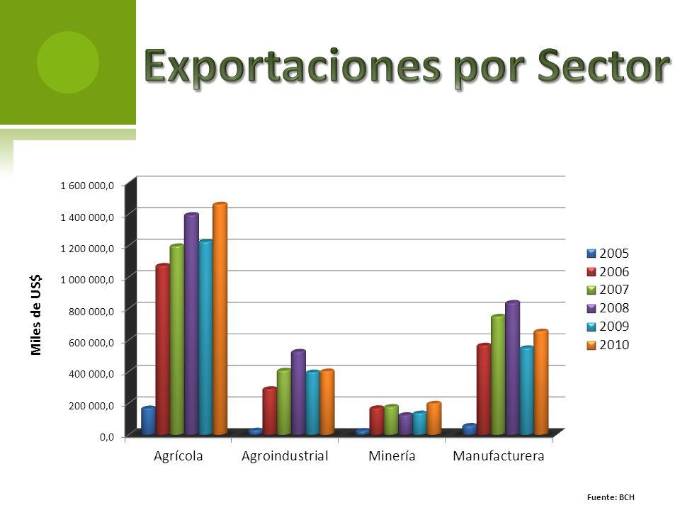 Exportaciones por Sector