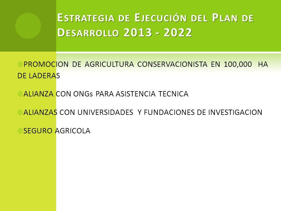 Estrategia de Ejecución del Plan de Desarrollo 2013 - 2022
