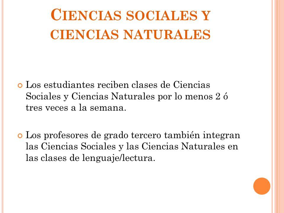 Ciencias sociales y ciencias naturales