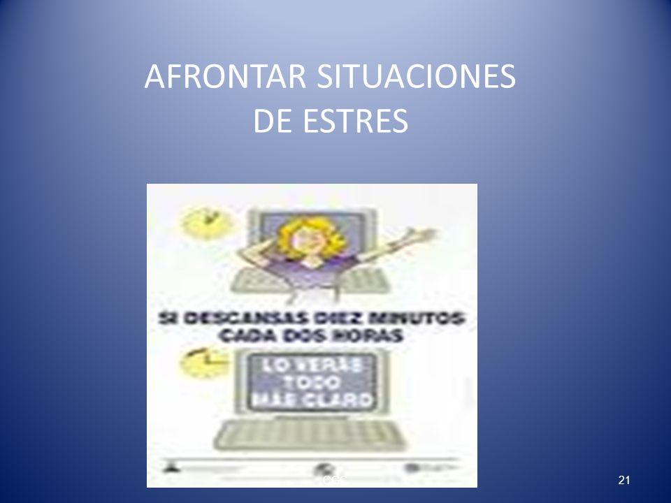 AFRONTAR SITUACIONES DE ESTRES