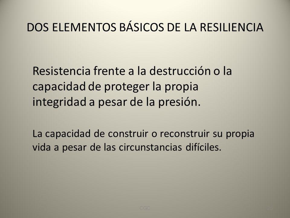 DOS ELEMENTOS BÁSICOS DE LA RESILIENCIA