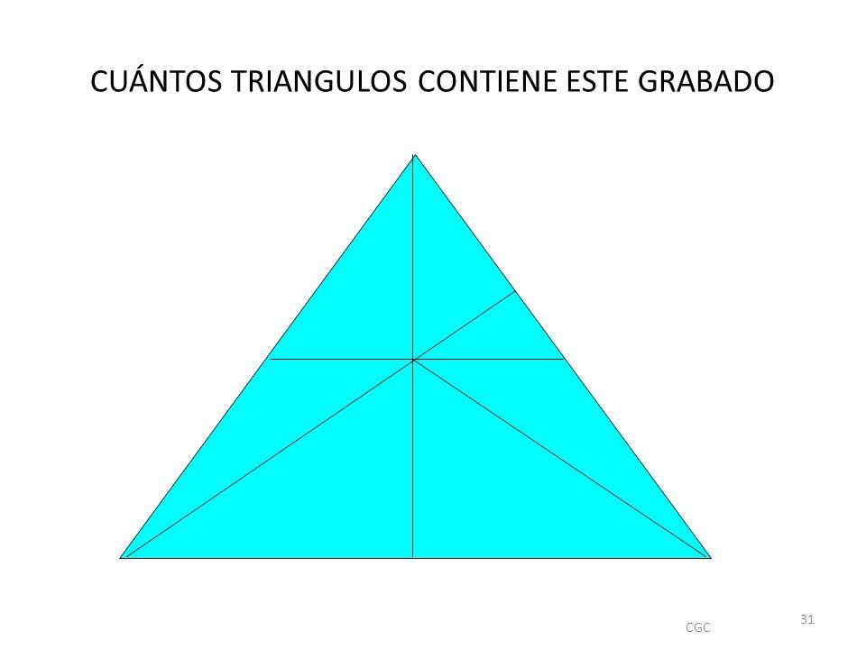 CUÁNTOS TRIANGULOS CONTIENE ESTE GRABADO