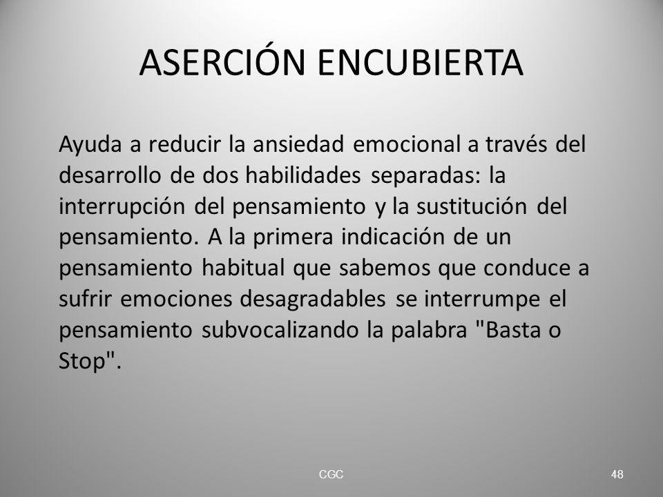 ASERCIÓN ENCUBIERTA
