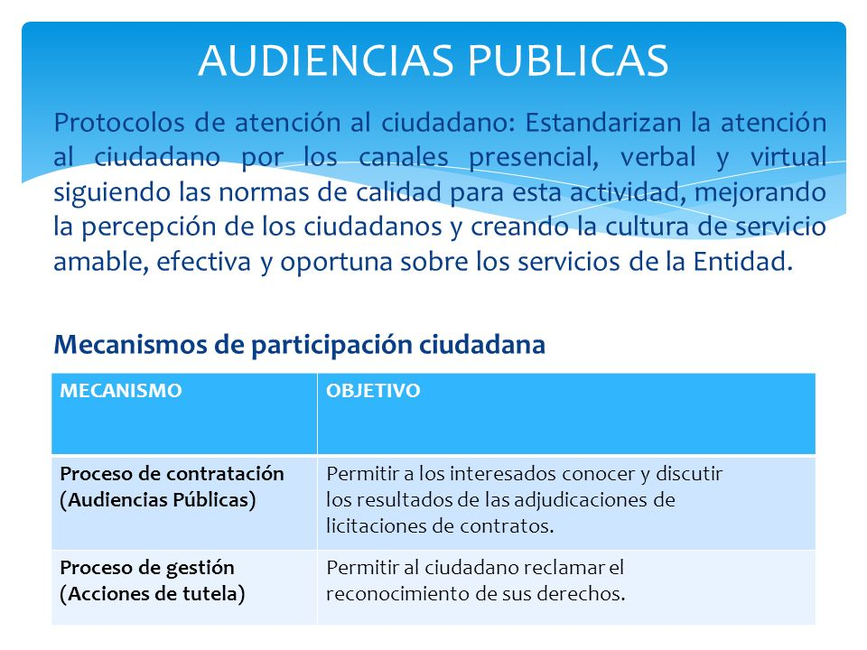 AUDIENCIAS PUBLICAS