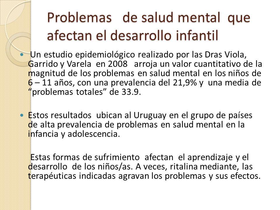 Problemas de salud mental que afectan el desarrollo infantil