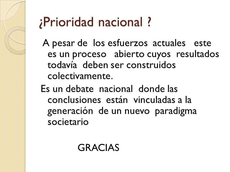 ¿Prioridad nacional
