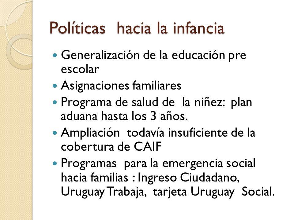 Políticas hacia la infancia