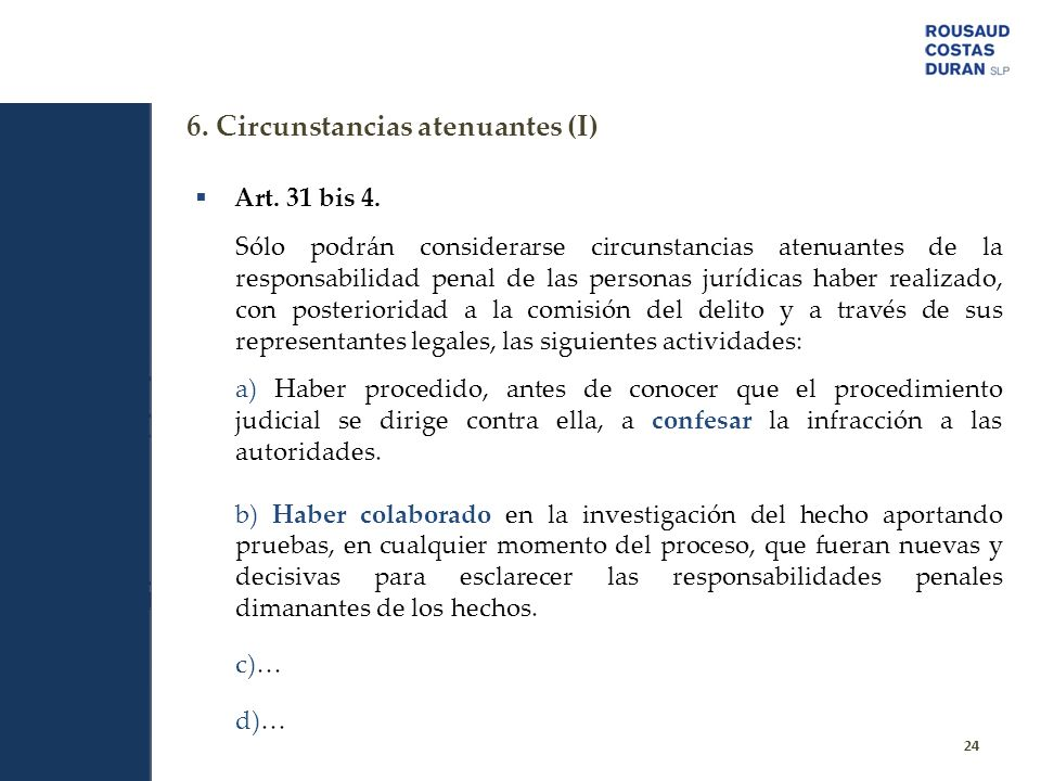 6. Circunstancias atenuantes (I)