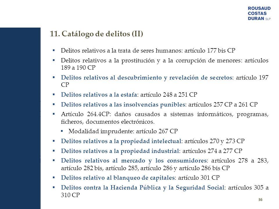 11. Catálogo de delitos (II)