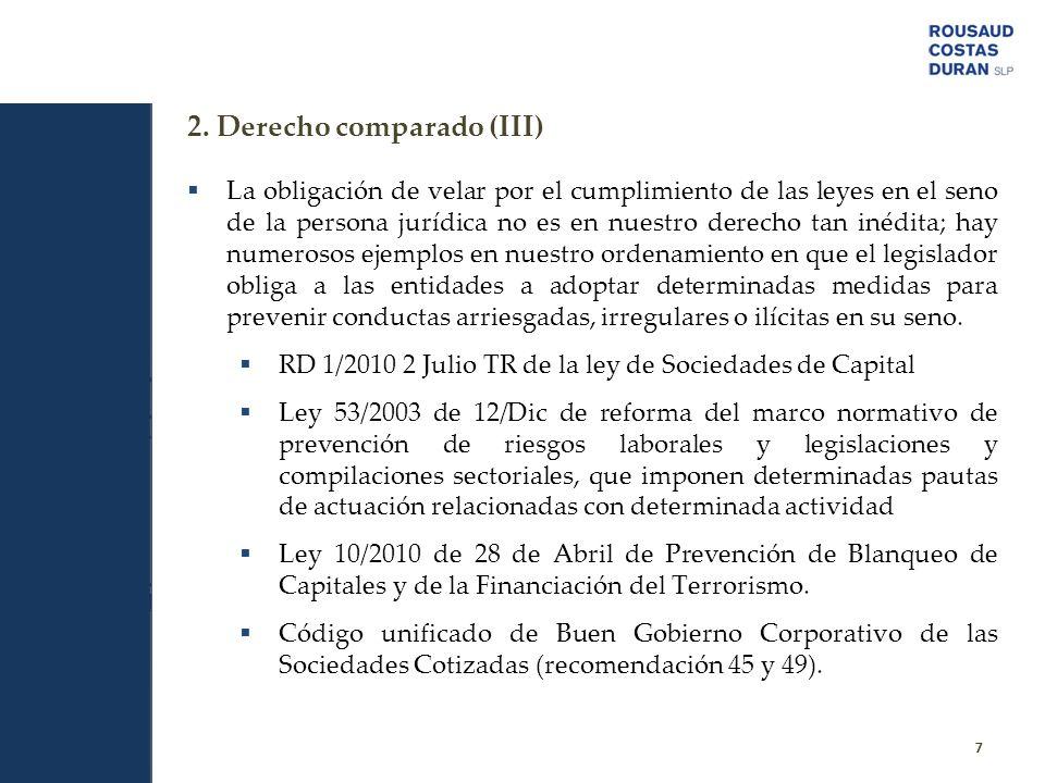 2. Derecho comparado (III)