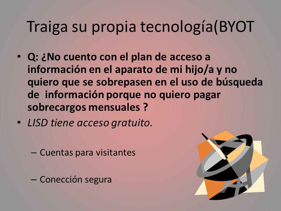 Traiga su propia tecnología(BYOT
