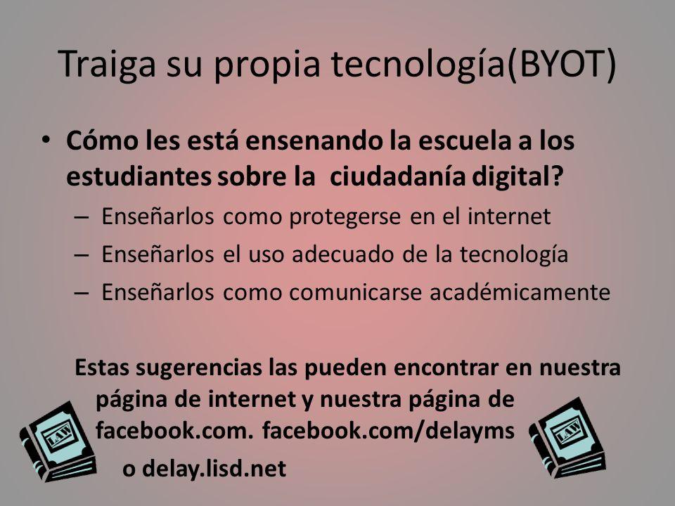 Traiga su propia tecnología(BYOT)