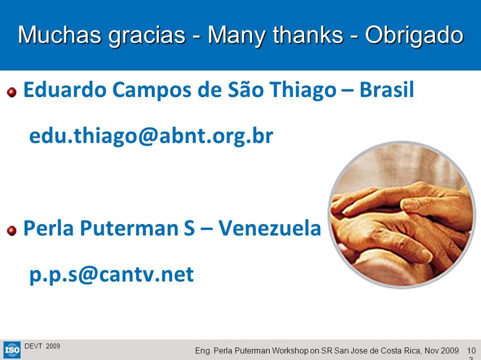 Muchas gracias - Many thanks - Obrigado