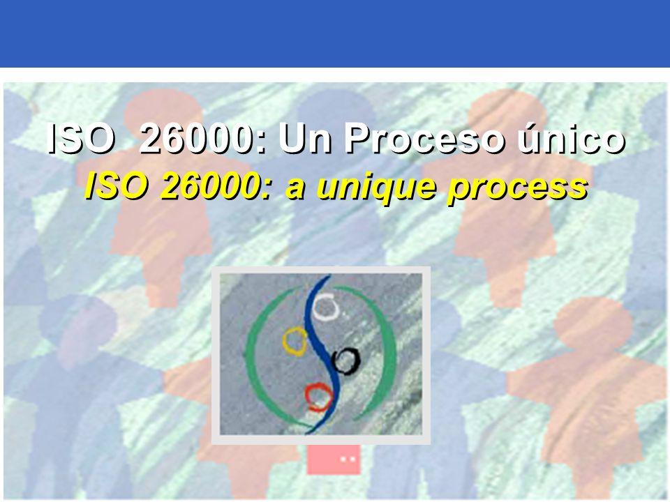 ISO 26000: Un Proceso único ISO 26000: a unique process