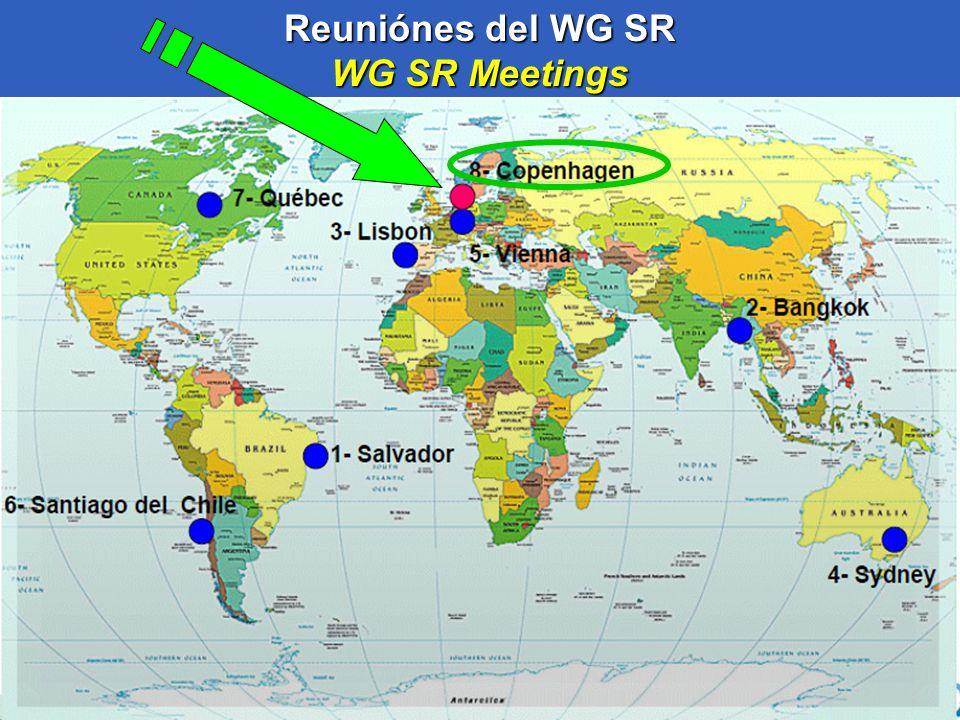 Reuniónes del WG SR WG SR Meetings