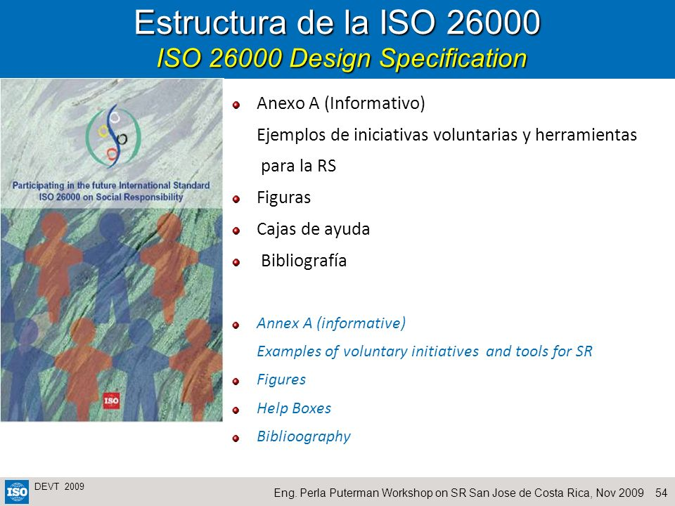 Estructura de la ISO 26000 ISO 26000 Design Specification