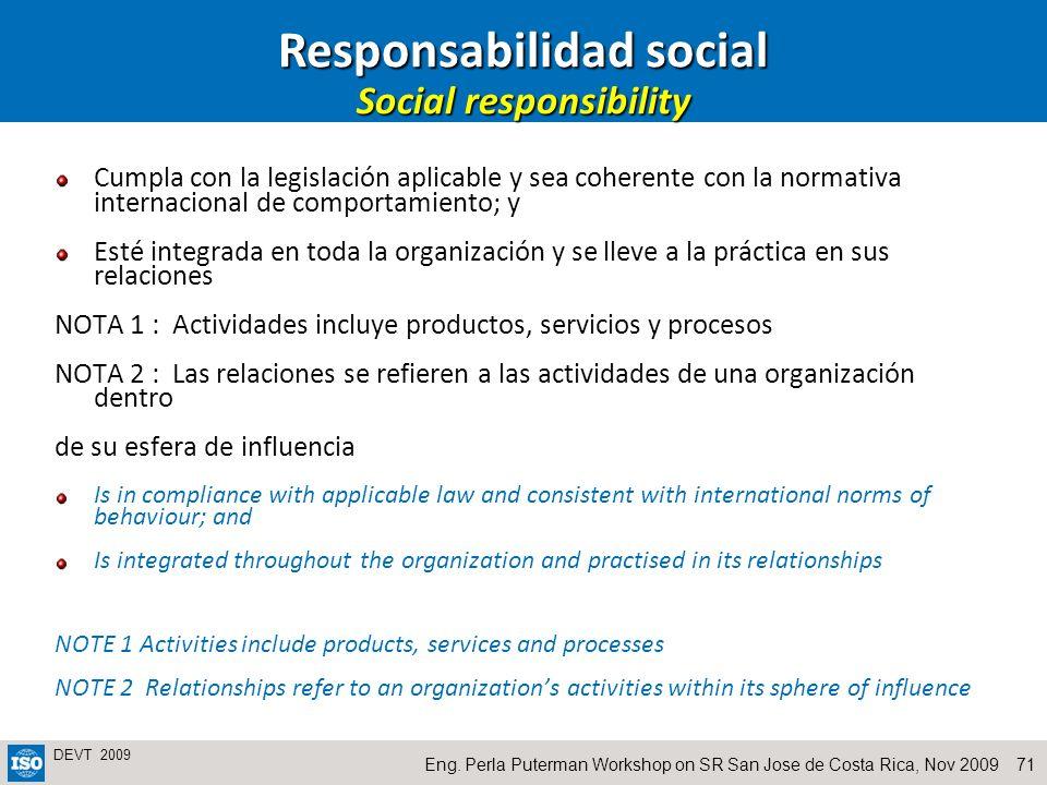 Responsabilidad social Social responsibility