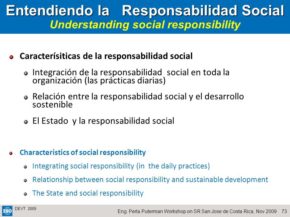 Entendiendo la Responsabilidad Social Understanding social responsibility
