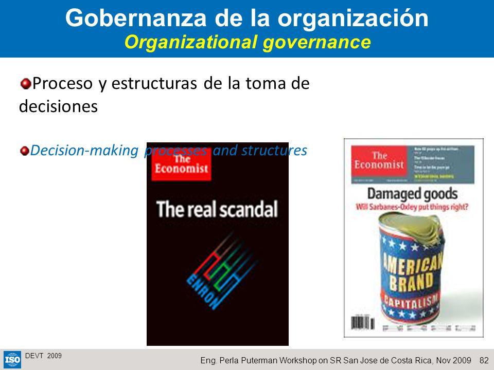 Gobernanza de la organización Organizational governance