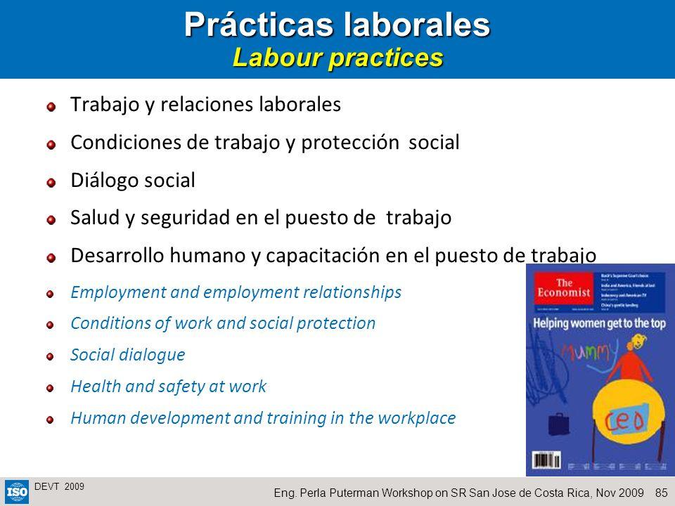 Prácticas laborales Labour practices