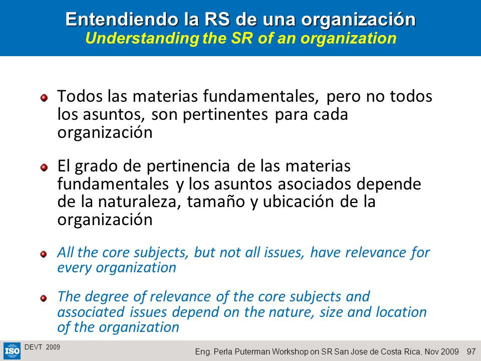Entendiendo la RS de una organización Understanding the SR of an organization