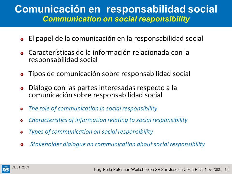 Comunicación en responsabilidad social Communication on social responsibility