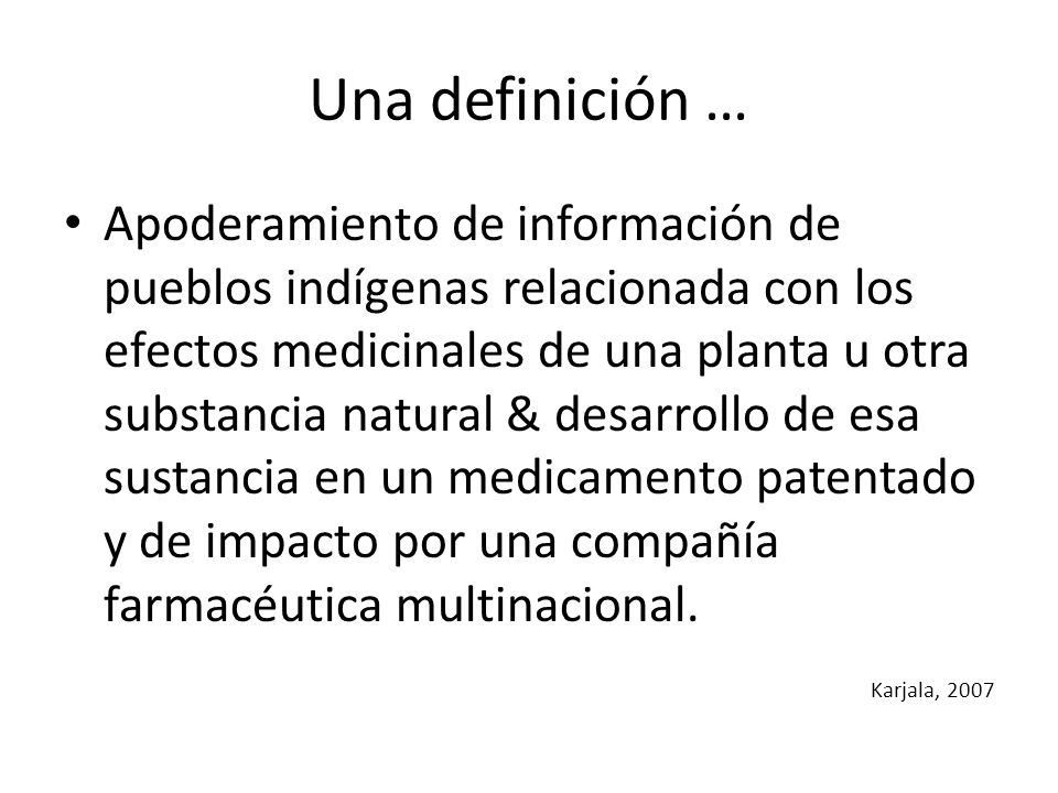 Una definición …