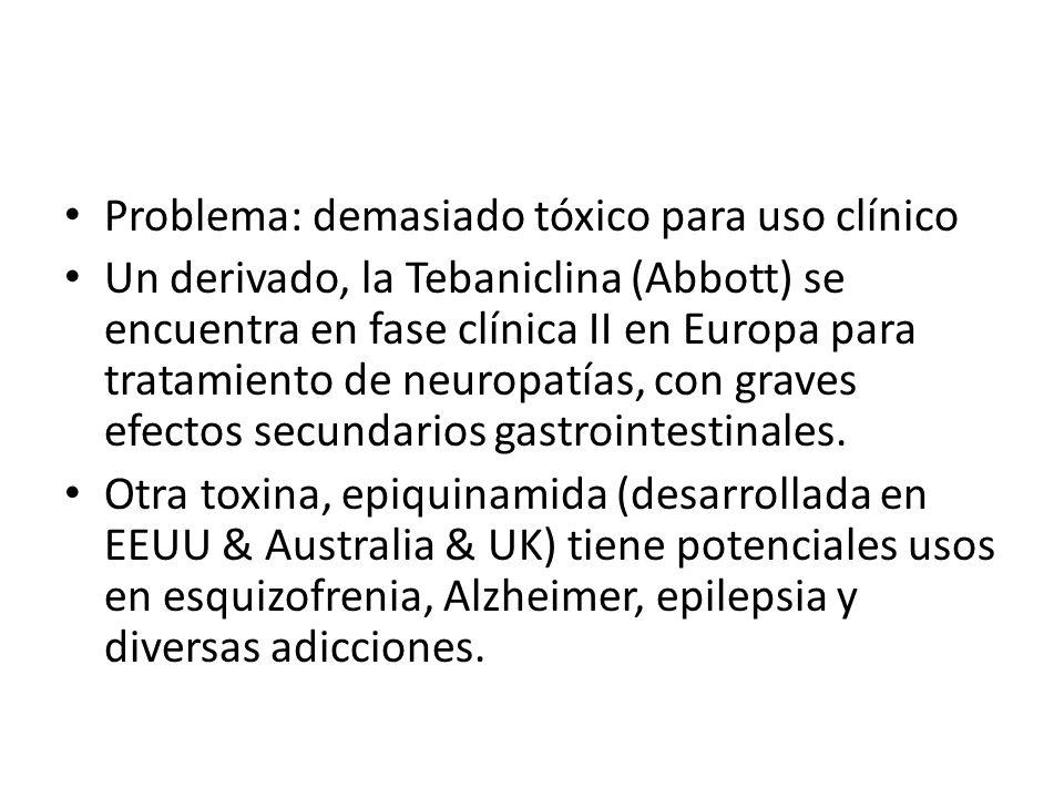 Problema: demasiado tóxico para uso clínico