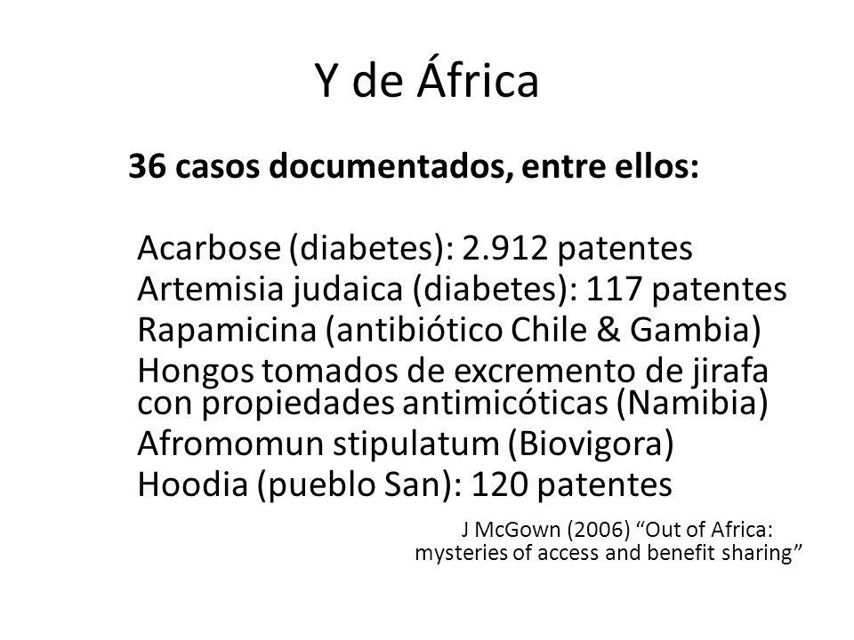 36 casos documentados, entre ellos: