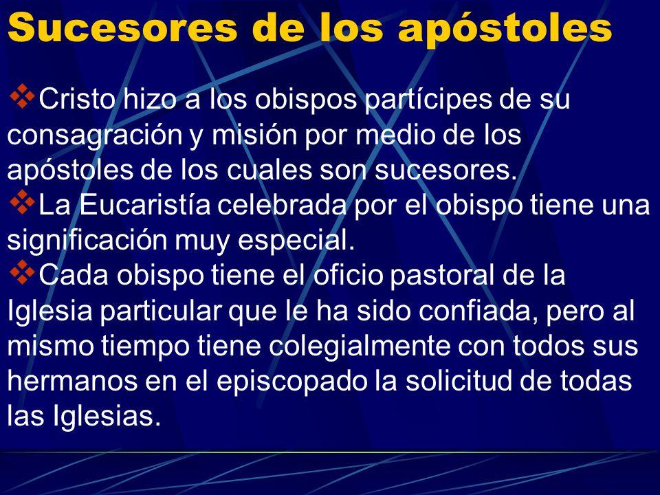 Sucesores de los apóstoles
