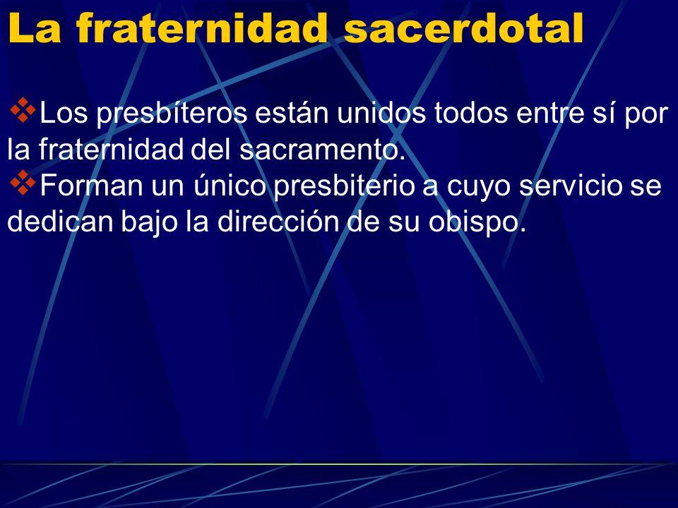 La fraternidad sacerdotal