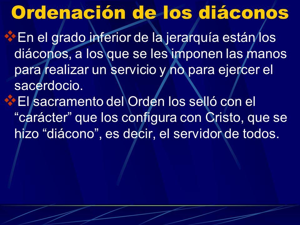 Ordenación de los diáconos