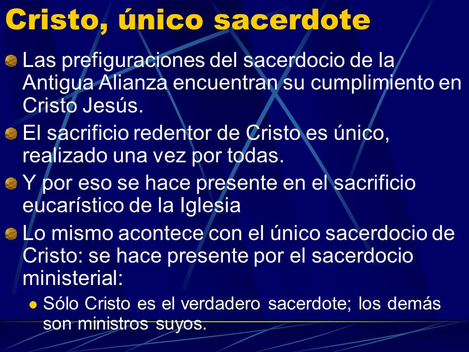 Cristo, único sacerdote