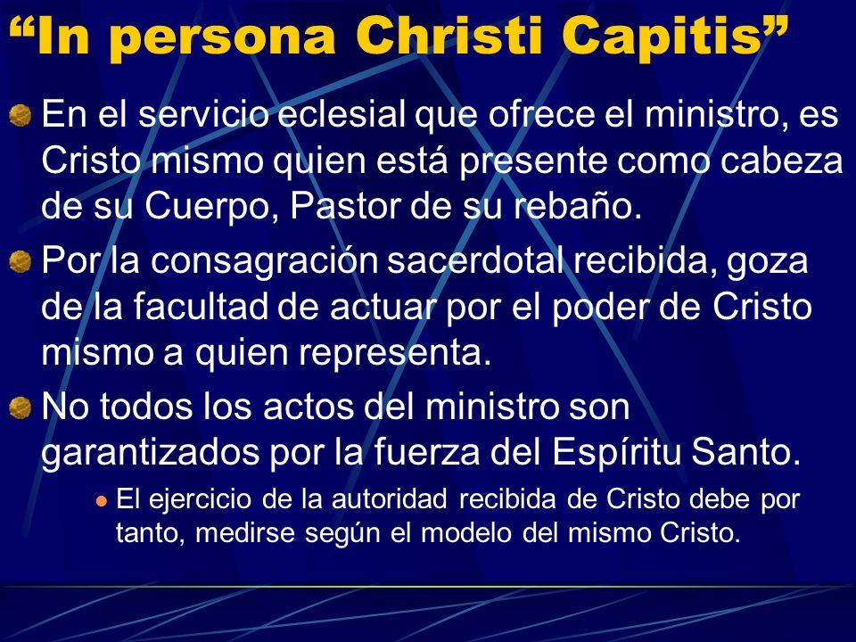 In persona Christi Capitis