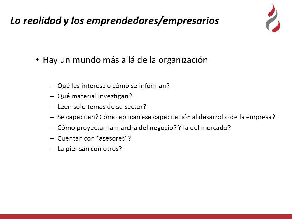 La realidad y los emprendedores/empresarios