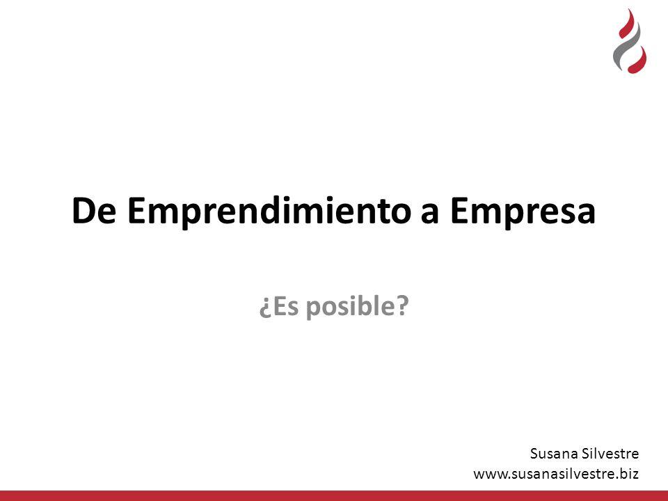 De Emprendimiento a Empresa