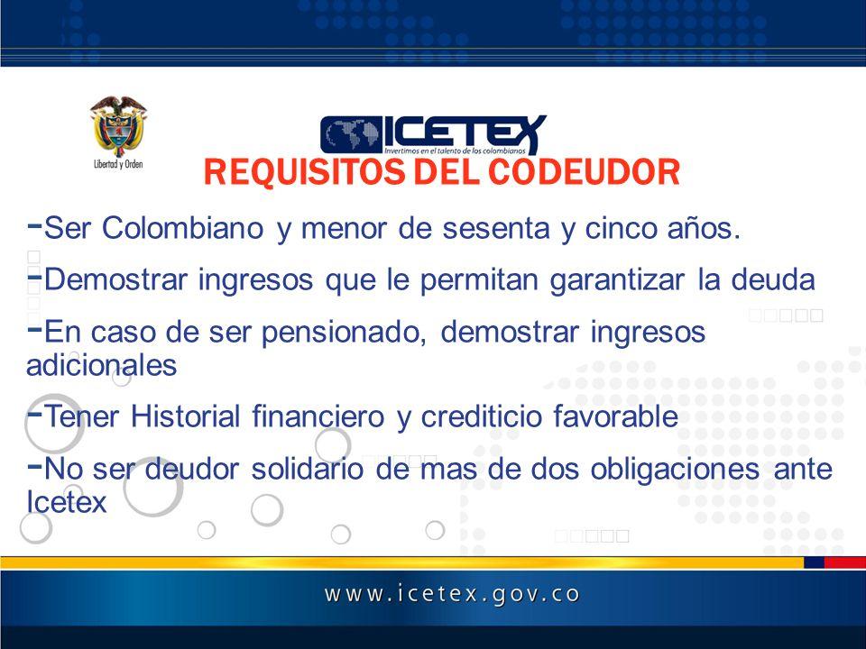 REQUISITOS DEL CODEUDOR