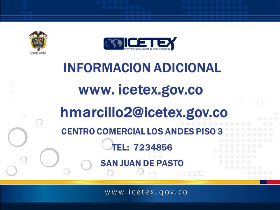 INFORMACION ADICIONAL CENTRO COMERCIAL LOS ANDES PISO 3