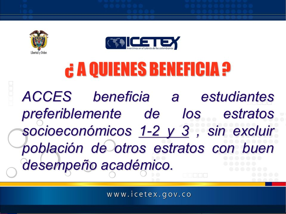 ¿ A QUIENES BENEFICIA