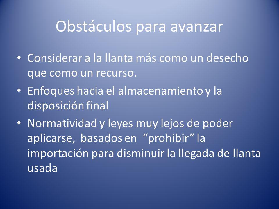 Obstáculos para avanzar