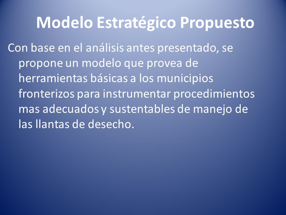 Modelo Estratégico Propuesto
