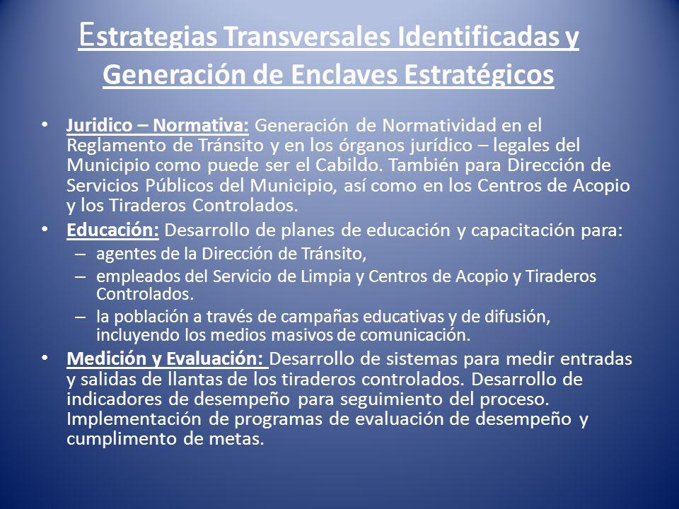 Estrategias Transversales Identificadas y Generación de Enclaves Estratégicos