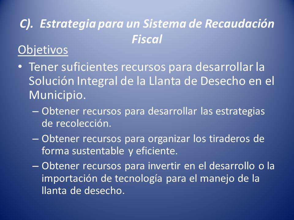 C). Estrategia para un Sistema de Recaudación Fiscal