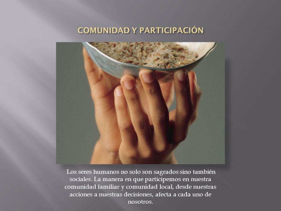 COMUNIDAD Y PARTICIPACIÓN