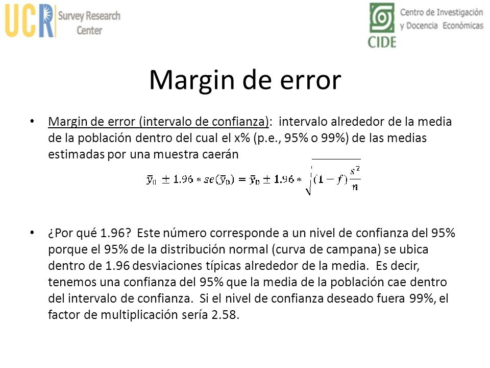 Margin de error