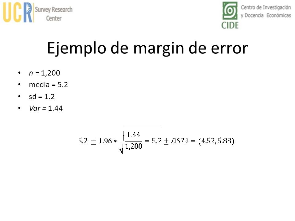 Ejemplo de margin de error