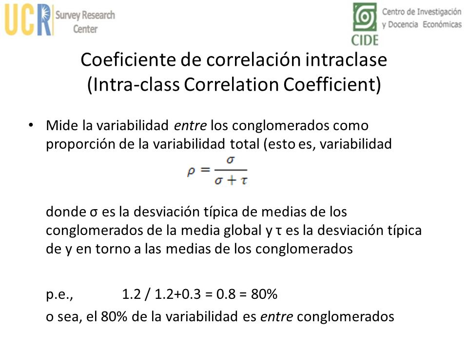 Coeficiente de correlación intraclase (Intra-class Correlation Coefficient)