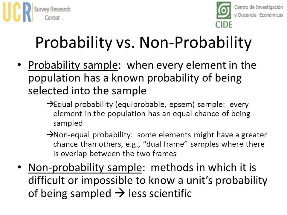 Probability vs. Non-Probability